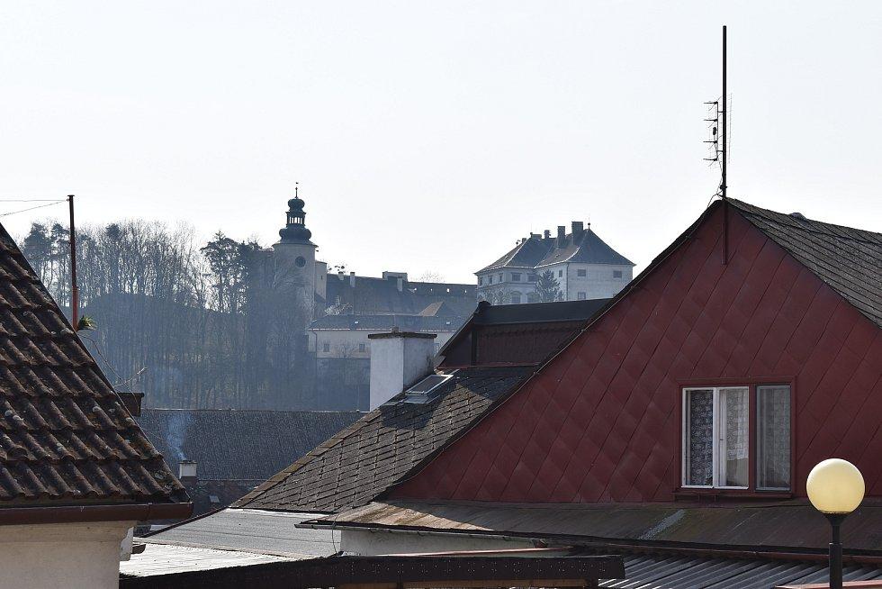 Město Úsov - pohled na zámek