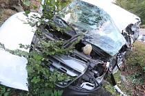 Nehoda na silnici 1. třídy mezi Olšany a Bludovem.