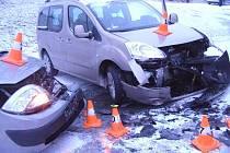 Dopravní nehoda v Žulové.