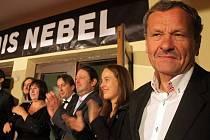 První veřejná produkce nového českého filmu Alois Nebel v Jeseníku - Miroslav Krobot (vpravo)