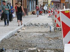 Rekonstrukce Žižkovy ulice v centru Zábřehu.