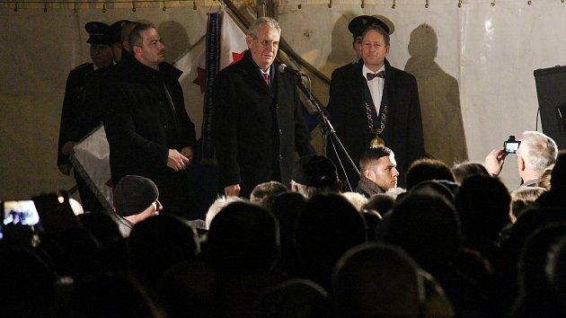 Prezident Zeman na návštěvě Mohelnice a Zábřehu