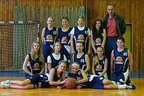 Snímek šumperských basketbalových nadějí.