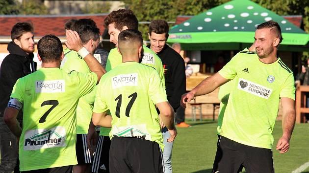 Fotbalisté Rapotína doma uspěli proti Dolanům