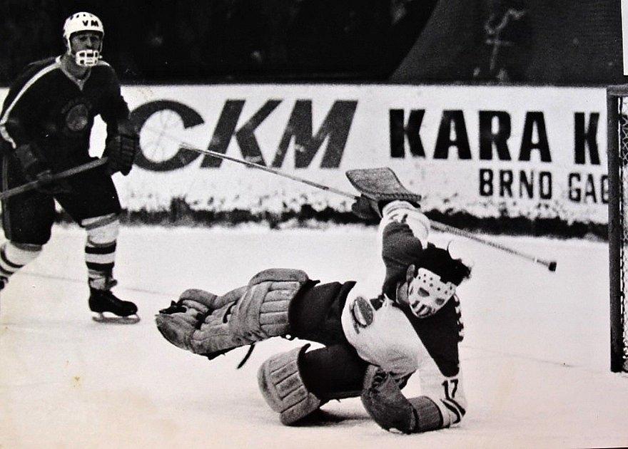 Brno proti Šumperku 11:0. Zápas se hrál 6. prosince 1972.