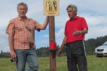 Historik Drahomír Polách (vlevo).