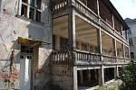 Šumperská sanatorka před zbouráním