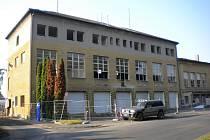 Demolice hasičské stanice v Šumperku.