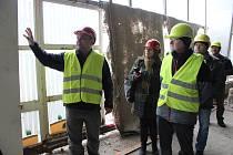 Rekonstrukce krytého bazénu v Šumperku, stav 10. ledna 2019.