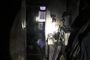Požár budovy sociálního bydlení ve Vidnavě.