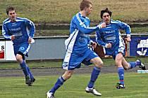 Fotbalisté Sulka Zábřeh (v modrém). Ilustrační foto