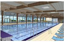 Proměna krytého bazénu v Šumperku na vizualizacích z roku 2012