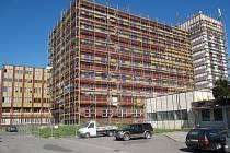 Budova střední školy stavební a strojní v Jeseníku – současný stav.