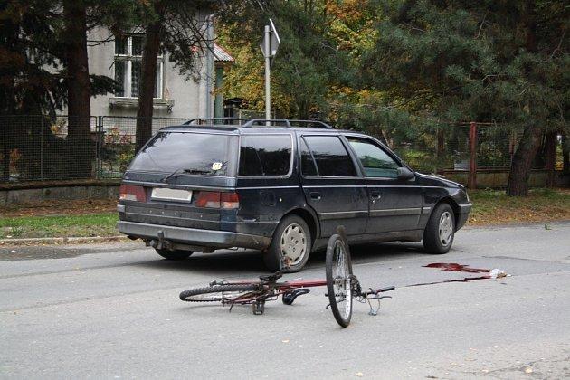 Krvavá nehoda v šumperské ulici Uničovská.