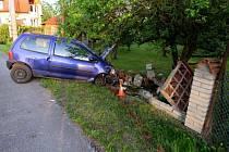 Nehoda v Mikulovicích.