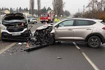 Nehoda na výjezdu ze Šumperka, 14. 12. 2020