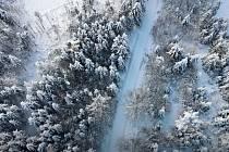 Zimní atmosféra v Nízkém Jeseníku 2021.