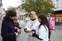 Studenti prodávali bílé pastelky, lidé tak přispěli do veřejné sbírky.