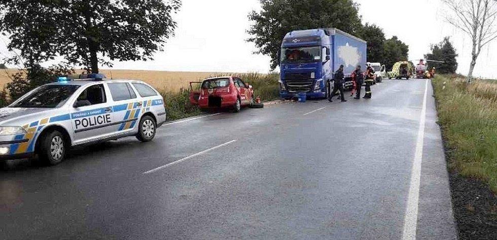 Vážná nehoda ve středu 4. srpna u Loštic.