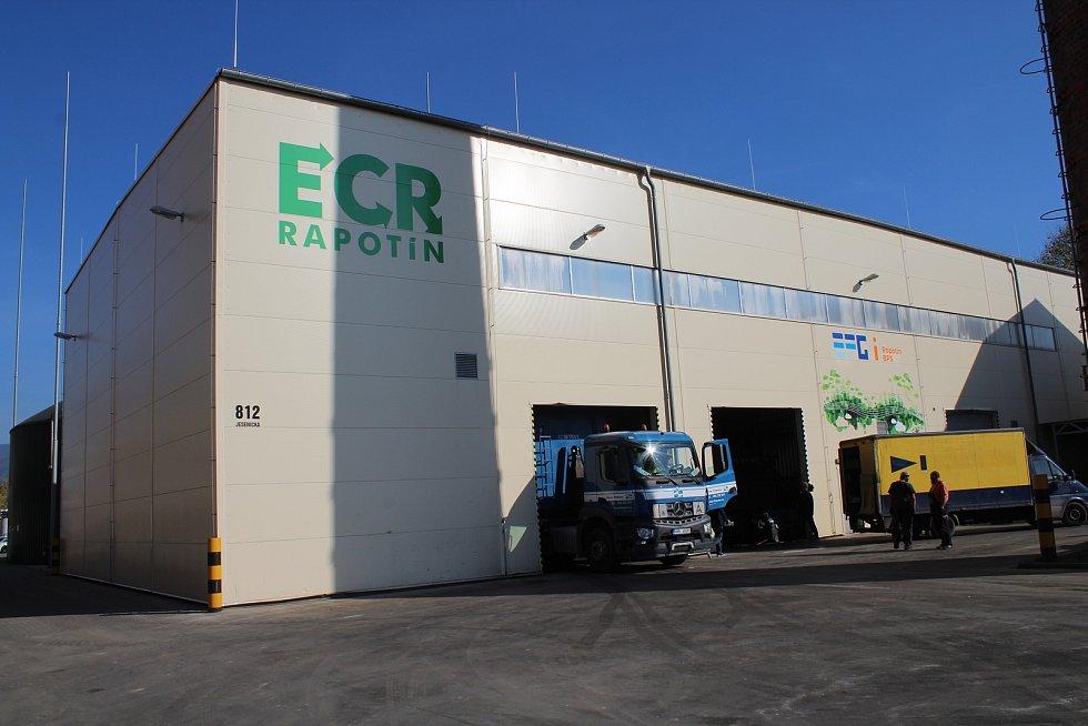 Energetické centrum recyklace v Rapotíně v říjnu 2019.