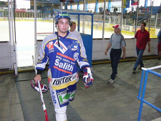 Mezi Draky. Pardubický Michal Rejzek se zkouší prosadit do šumperského týmu.