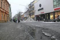 Břečka v centru Šumperku