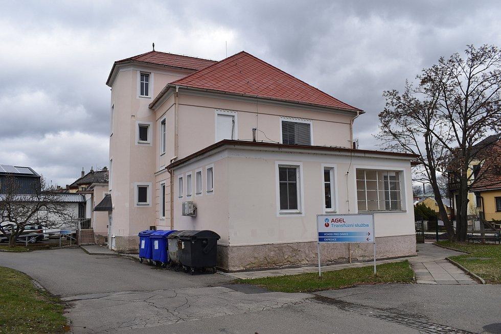 Nemocnice Šumperk. Budova transfuzní služby