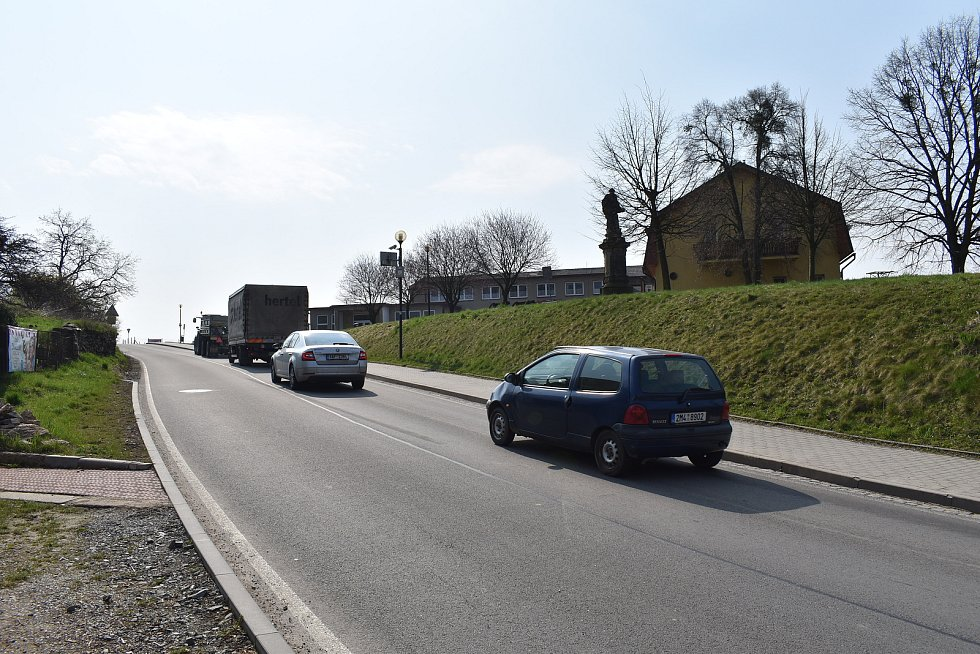 Město Úsov - cesta na Uničov