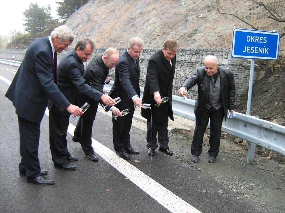 Křest zrekonstruované silnice.