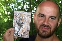 Křest mláděte tygra usurijského v ZOO Lešná. Kmotr Igor Timko.