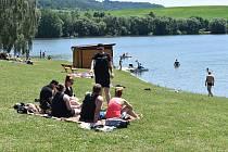 Kemp a přehrada Krásné u Šumperka v sobotu 19. června 2021.