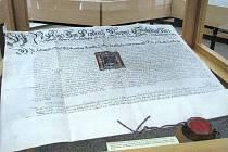 Listina z roku 1562 - povýšení Šumperku na královské město