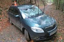 Nehoda v Ostružné v katastru obce Branná.