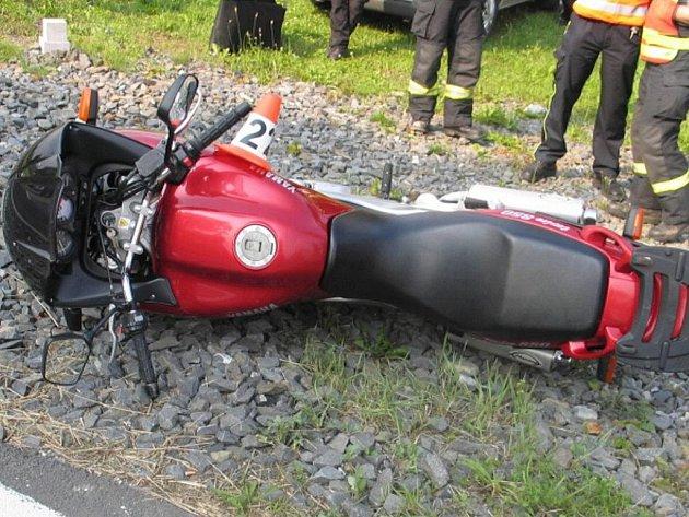Snímek motorky, na které zahynul muž ze Šumperska