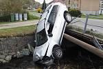 Hrozivě vypadající nehoda volva v Oskavě