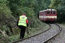 Snímky ze simulace srážky vlaků za Ramzovou