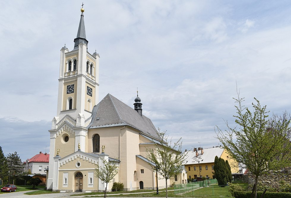 Vidnava - kostel sv. Kateřiny Alexandrijské.