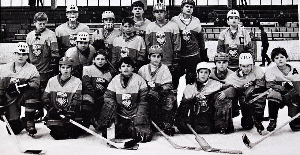 O štít únorového vítězství. První ročník turnaje mladších žáků v ledním hokeji 3.-5. března 1972, tým Olomouc