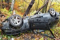 Nehoda na Hrabenovském kopci u Šumperku