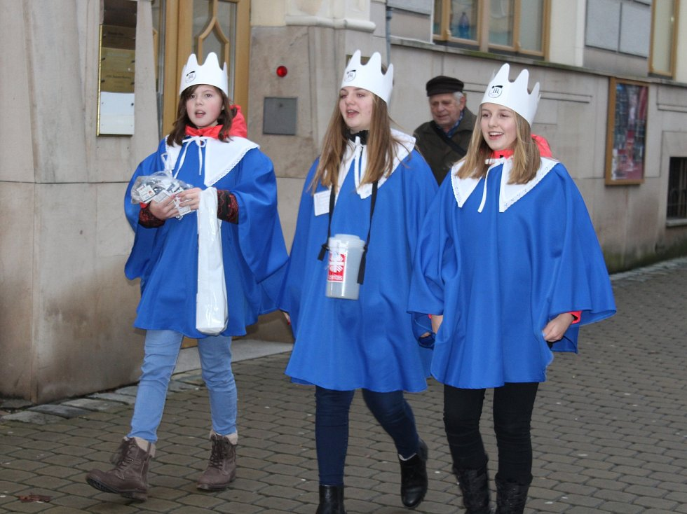 Zahájení Tříkrálové sbírky v Šumperku.