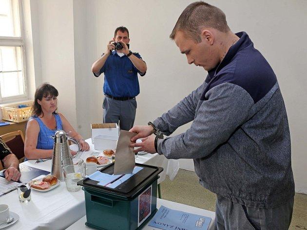 Volby do EU v jedné z netěžších věznicích ČR Mírově.