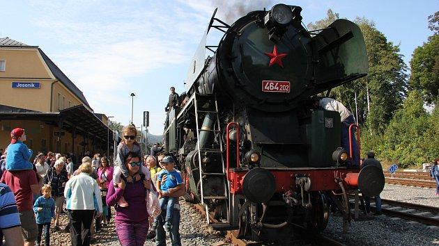 Parní vlak na trati Slezský Semmering