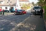 Nehoda na křižovatce ulic Revoluční a Lidické v Šumperku