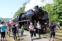 Parní lokomotiva řady 534 přezdívaná Kremák.