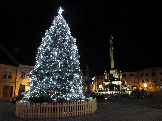 5. Mohelnice, vánoční strom na náměstí Svobody