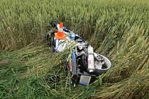 Mezi Vidnavou a Velkými Kuněticemi havaroval motocyklista.