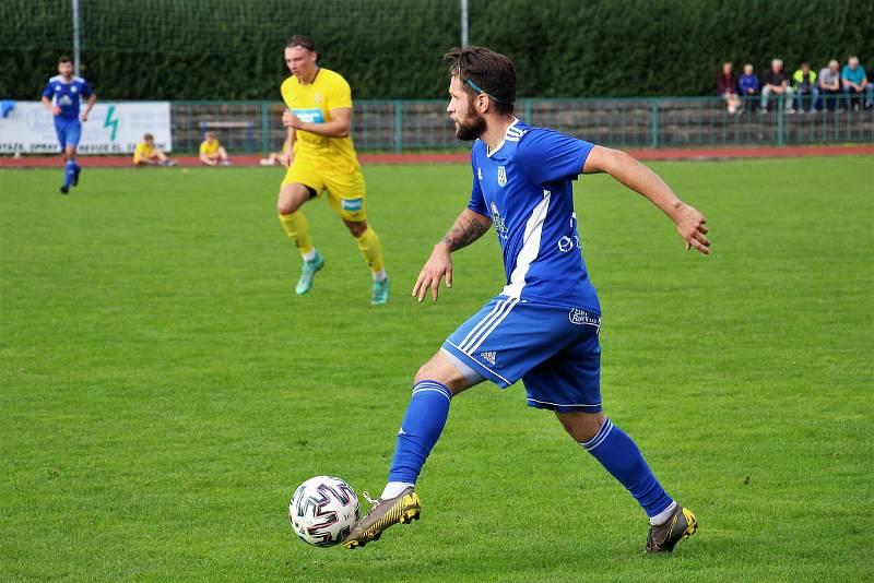 Fotbalisté Šumperku slaví v divizi těsnou výhru nad Stráním