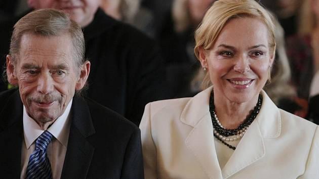Dagmar Havlová a Václav Havel na archivním snímku