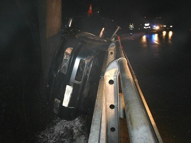 Dopravní nehoda 26. prosince poblíž Zlatých Hor