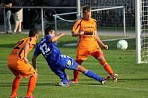 Prostějov versus Zábřeh (oranžové dresy).